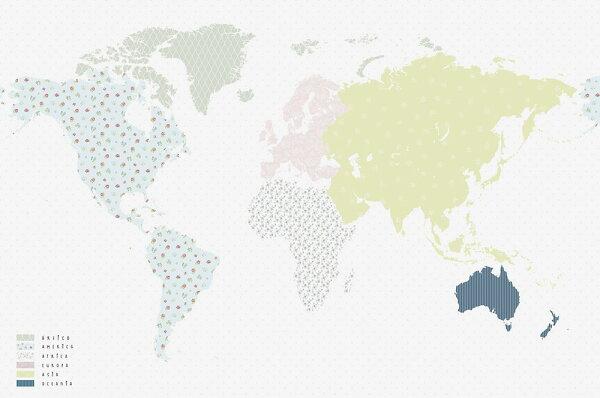世界地圖兒童房BloOmpapers西班牙AnneMundus6272002【一套9張壁畫】