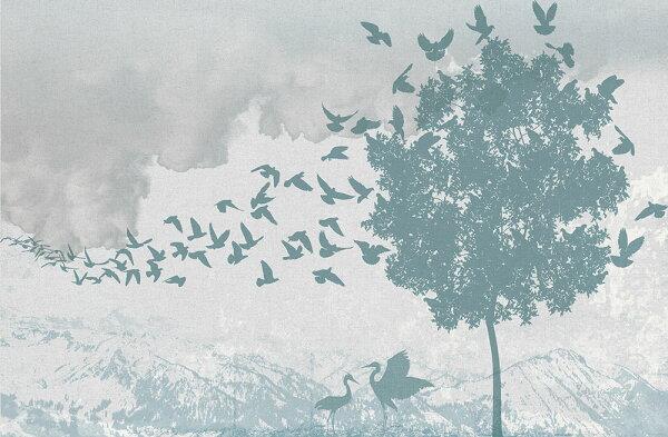 風景圖BloOmpapers西班牙AnnePasserAzul6272004【一套8張壁畫】