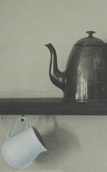 Deborah Bowness / Bric-a-Brac Shelf Wallpaper / grey 壁紙 (訂貨單位84cm×10m/卷)