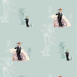 Elli Popp /  Just around Midnight / P136-02 壁紙 (訂貨單位52cm×10m/卷)