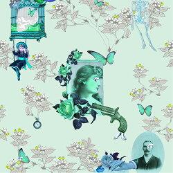Elli Popp /  Wings and Pistols / P144-02 壁紙 (訂貨單位52cm×10m/卷)