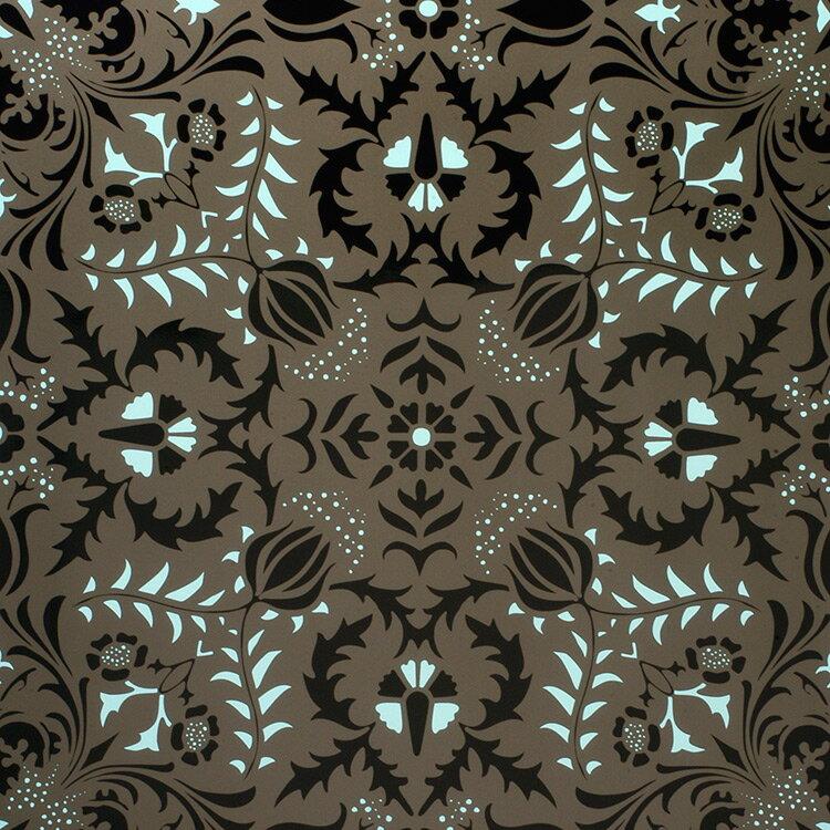 Flavor Paper DAUPHINE / Glacier On Black 壁紙 (訂貨單位68.58cm×13.7m/卷)