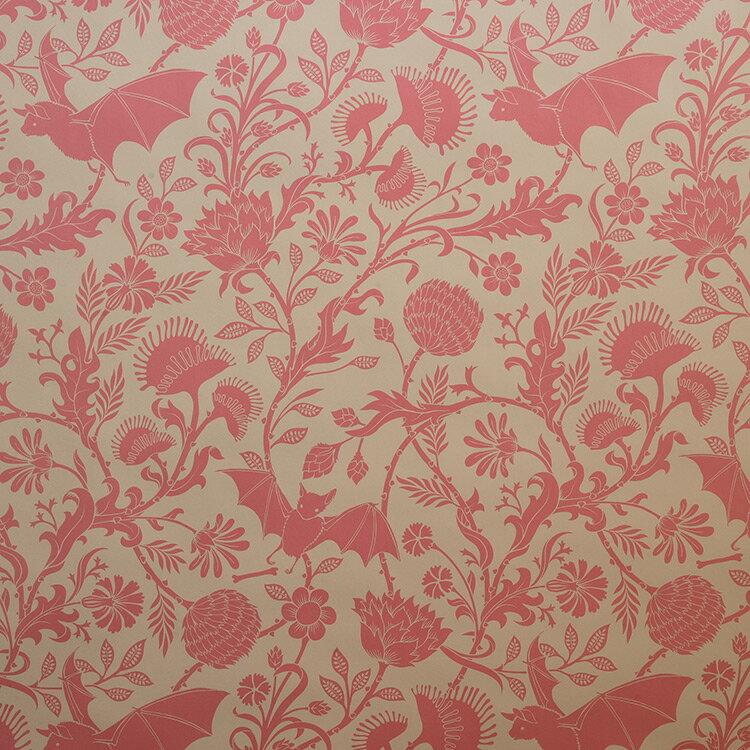 Flavor Paper ELYSIAN FIELDS / Antique Pink On Oatmeal 壁紙 (訂貨單位68.58cm×13.7m/卷)