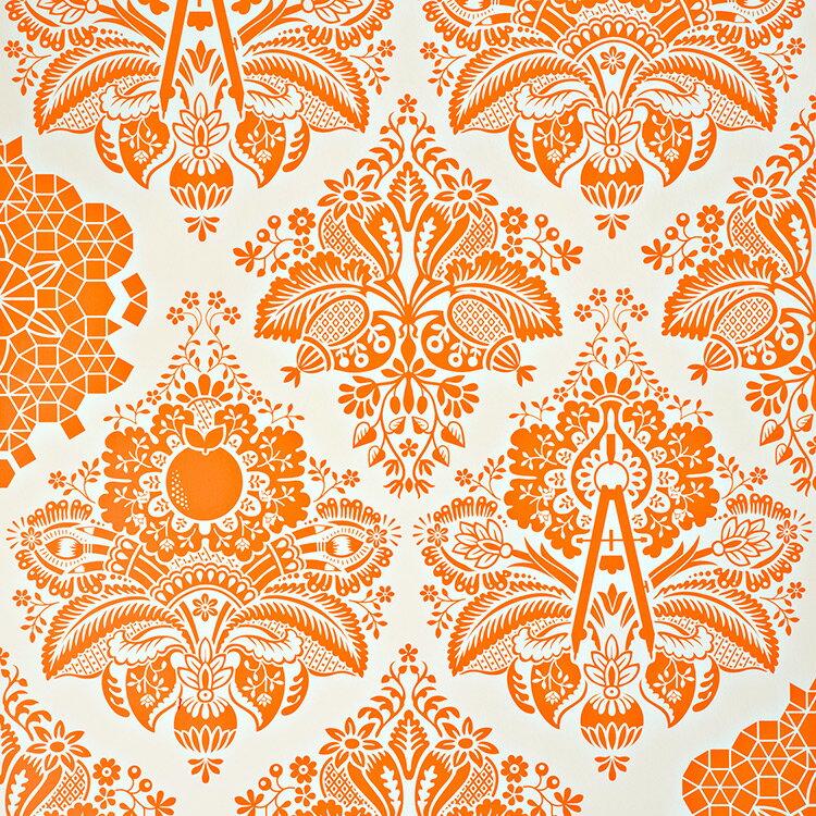 Flavor Paper FRUITS OF DESIGN / Sweet Potato On Mica 壁紙 (訂貨單位68.58cm×13.7m/卷)
