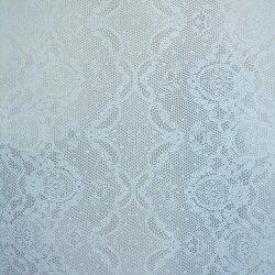 Flavor Paper LACED / Light Blue On Silver 壁紙 (訂貨單位68.58cm×13.7m/卷)