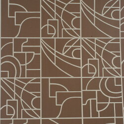 Flavor Paper STANLEY / Cocoa On Silver 壁紙 (訂貨單位68.58cm×13.7m/卷)