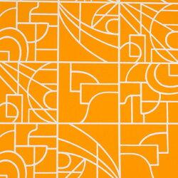 Flavor Paper STANLEY / Pumpkin On White 壁紙 (訂貨單位68.58cm×13.7m/卷)