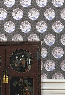 sidoreLeroy法國壁紙植物花紋天鵝