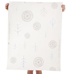 JUJU Papers / A View of The Woods / White and milk on Cream 壁紙 (訂貨單位68.58cm×914cm/卷)
