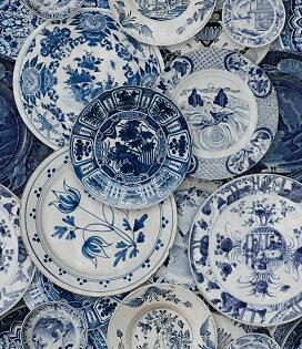 陶瓷紋台夫特陶瓷紋藍色MindtheGapWP20187