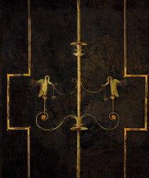 復古 黑色鐵欄紋 白鳥紋 Mind the Gap / WP20200