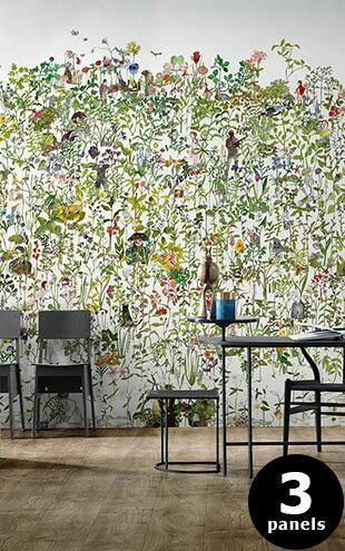 荷蘭壁紙NLXL LAB3 花園 植物 花草 人物 插畫風 手繪風 牆紙   IN THE