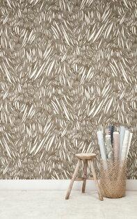 壁紙屋本舖:棕色壁紙日式和風壁紙Quercus&Co.澳大利亞進口壁紙TheSuketchiCollectionWindsweptChairoWPWIN-186