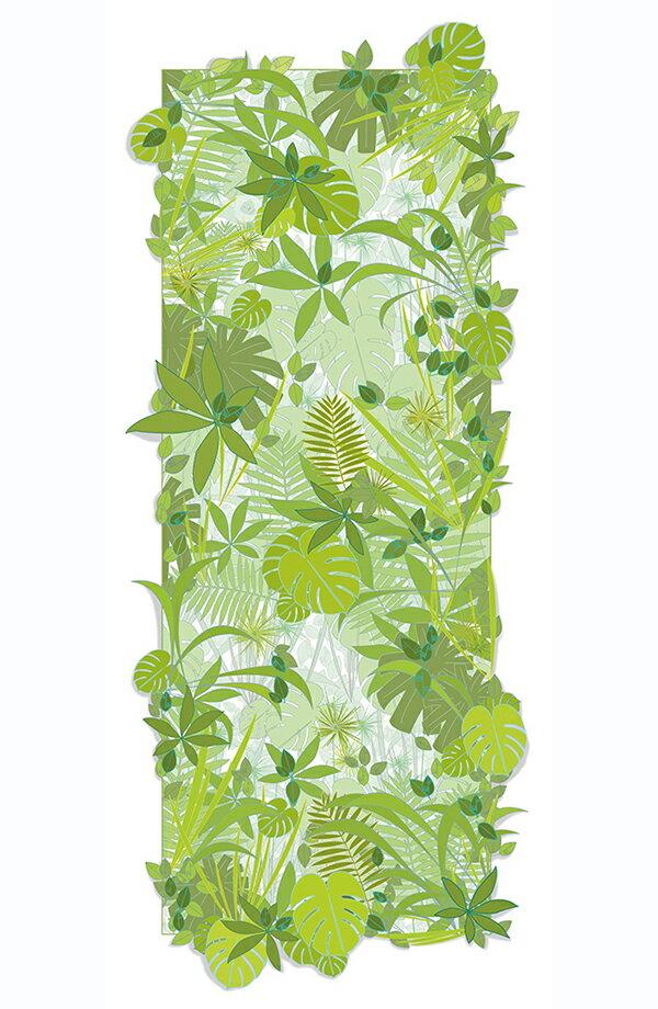 壁紙 法國 牆紙 熱帶風 綠色 叢林 猴子 SWABDESIGN Wallpaper / MONKEY(訂貨單位 80cm×190cm/卷)