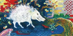【WALLTZ】 Marie Ikura / The Wild Boar and Me 壁紙 「訂貨單位519cm×255.8cm/套(一套十一張壁板)」