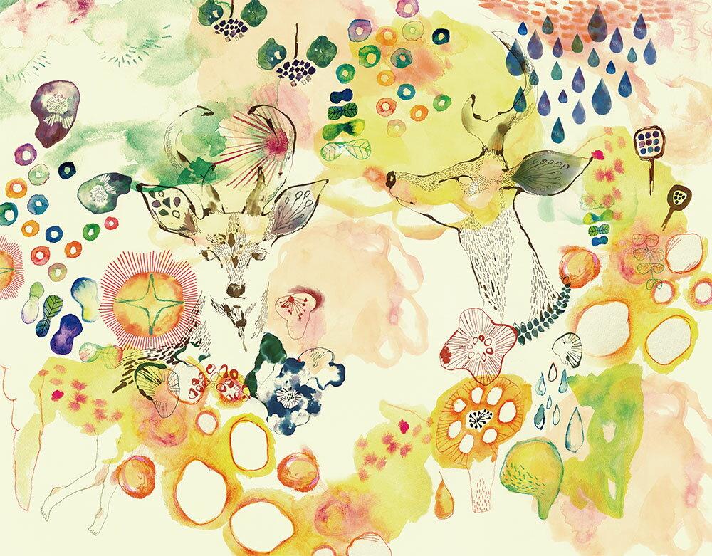 【WALLTZ】 KEIKO MATSUMOTO / Untitled 壁紙 「訂貨單位330cm×257.9cm/套(一套七張壁板)」