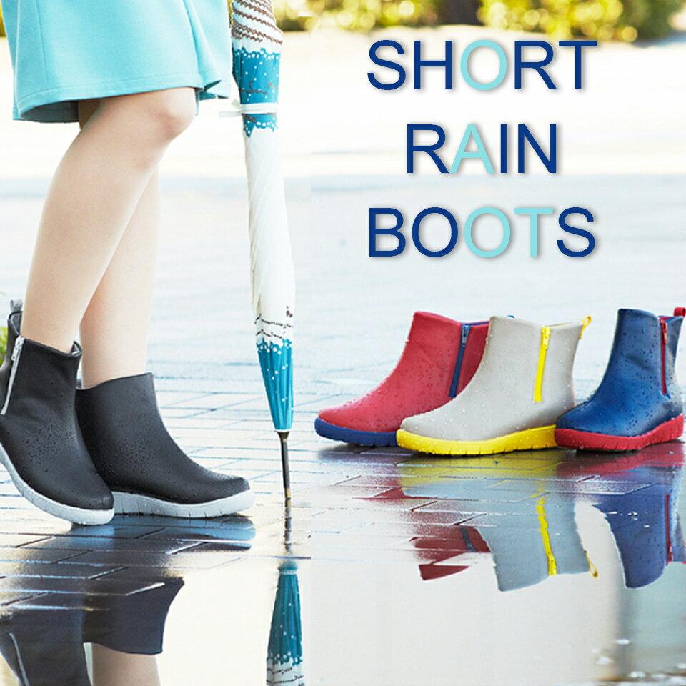 PANSY 女性 時尚撞色 短筒雨鞋 QA4944 0