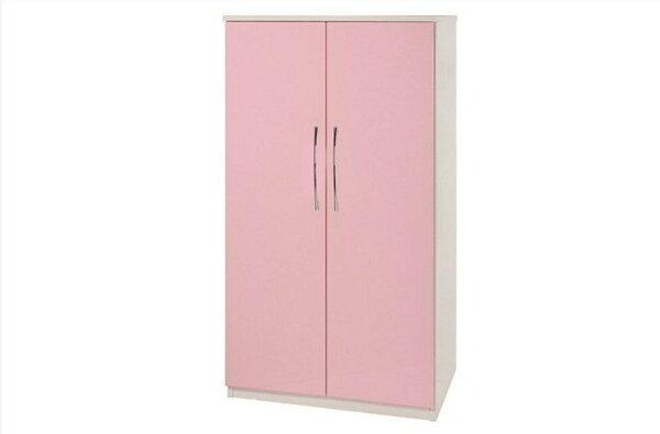【石川家居】824-07(粉紅白色)衣櫥(CT-104)#訂製預購款式#環保塑鋼P無毒防霉易清潔