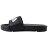 Shoestw【4-S313T-021】FILA 拖鞋 韓版 潮拖 電繡 大LOGO 棉內襯 黑色 男女尺寸都有 2