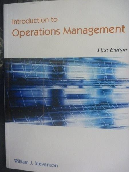 【書寶二手書T7/大學商學_ZCK】Introduction to operations management_STEV