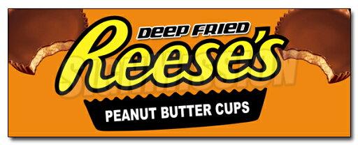 "36"" DEEP FRIED REESE'S PEANUT BUTTER CUPS DECAL sticker chocolate candy bar fry c5f4c2f3f03b81ec516b1ad9e92dd17a"