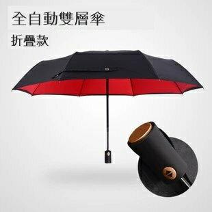 【瞎買天堂x雙色夠潮】全自動8傘骨折疊傘 雙層拒水 雨傘 三折 抗風【UBAAST14】