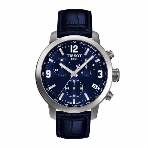TISSOT天梭錶T0554171604700 三眼時尚計時機械錶/白面43mm