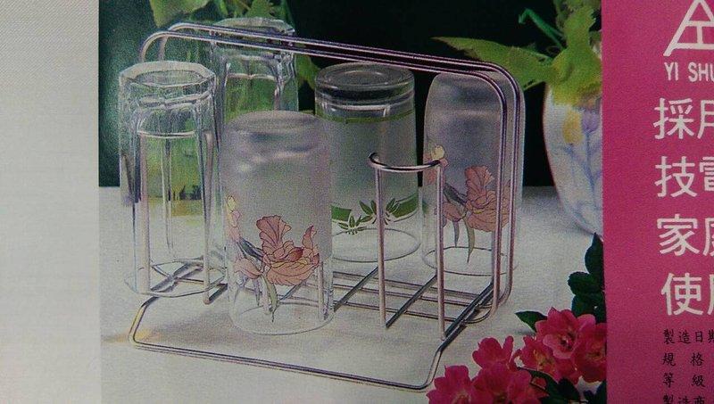 【八八八】e網購~k-840不鏽鋼杯架附滴水盤 滴水架 水杯架 瀝水架 玻璃杯 馬克杯 咖啡杯
