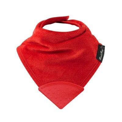 紐西蘭Mum2Mum 機能型神奇三角口水巾咬咬兜(紅)