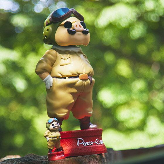 GBL限定 晃頭擺飾 S 紅豬 波魯克 飛行服 飛行艇時代 宮崎駿 公仔 模型 擺飾 收藏 真愛日本