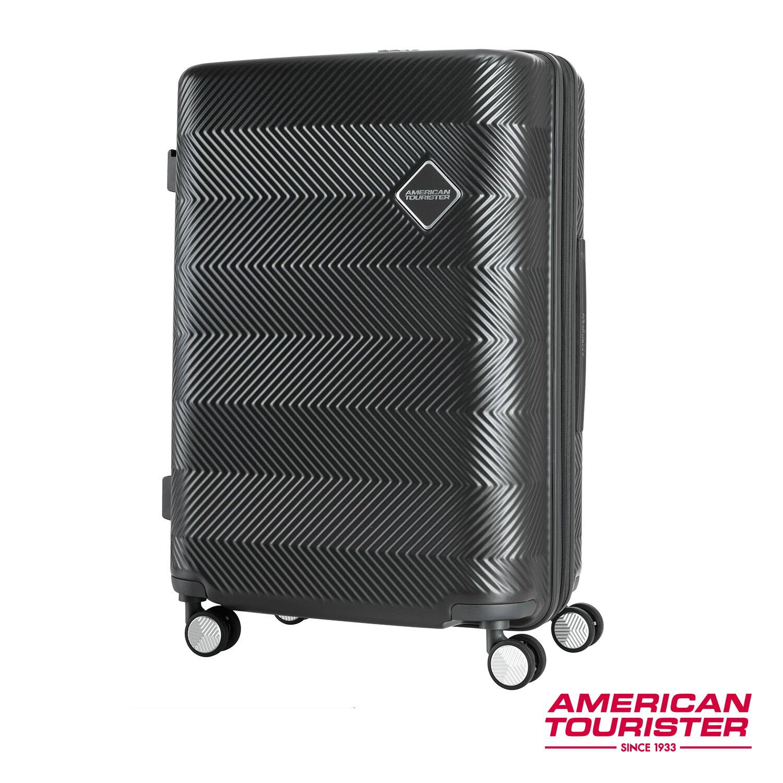 AT美國旅行者 24吋Groovista 霧面耐磨吸震PC硬殼行李箱(黑) - 限時優惠好康折扣