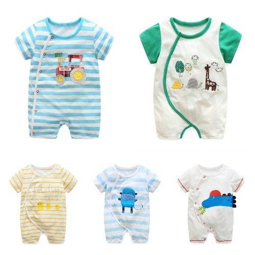 嬰兒短袖連身衣春夏兔裝寶寶童裝LZ22348好娃娃