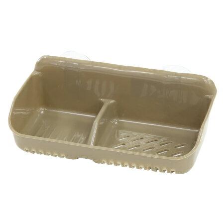 雙格皂盒 KW-5 附吸盤 BR