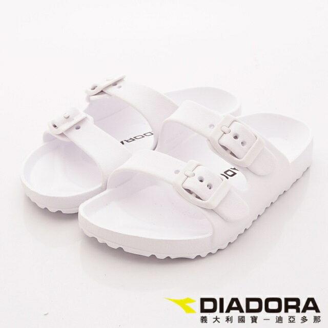 【DIADORA】夏日糖果色輕量拖鞋-WS3519白(女段)