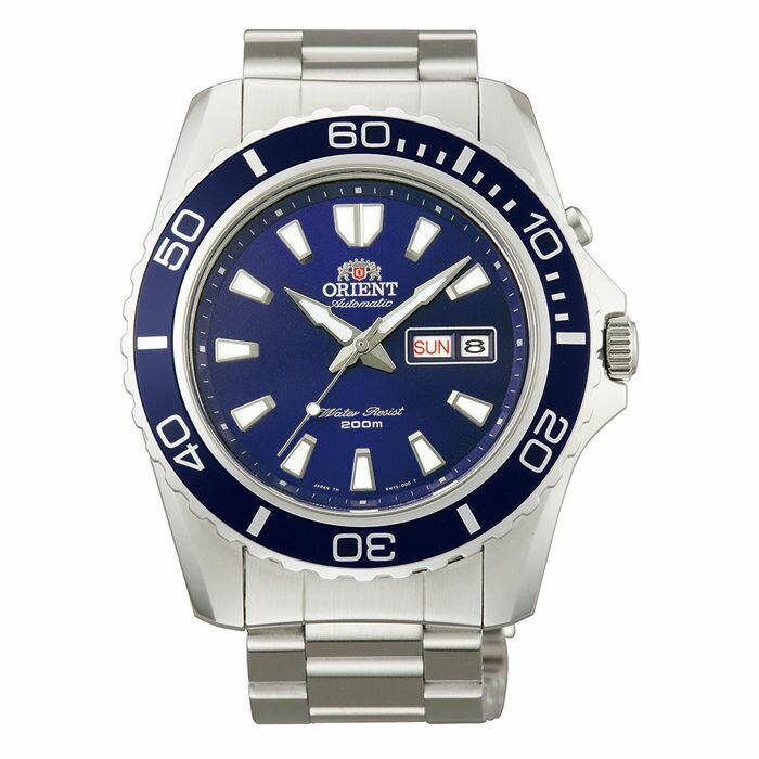 Orient 東方錶(FEM75002D)經典潛水機械腕錶/藍面44.5mm