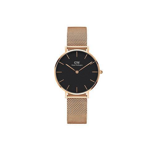 DW Daniel Wellington 丹尼爾惠靈頓 Classic Black Petite Melrose 米蘭風格時尚腕錶 DW00100161 玫瑰金 黑 32mm 0
