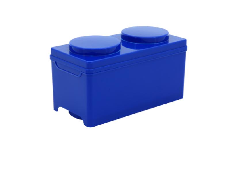 淺二圓積木掀蓋整理箱/積木造型收納箱/整理盒/儲物櫃/組合櫃/後車廂分類箱/掀蓋/止滑/DIY/可堆疊/大容量/防塵/好收納/ MEMYDO 米麥豆/BLOCK STORAGE BOX/SG18