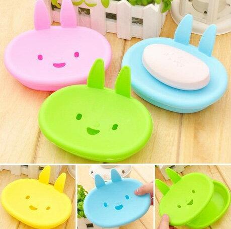 小兔香皂盒 可愛笑臉肥皂盒 (不挑色)