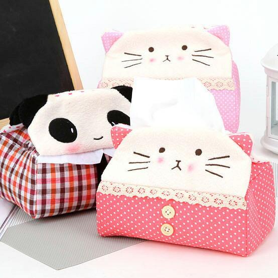 可愛貓咪熊貓抽取式面紙套 面紙盒 (不挑款)
