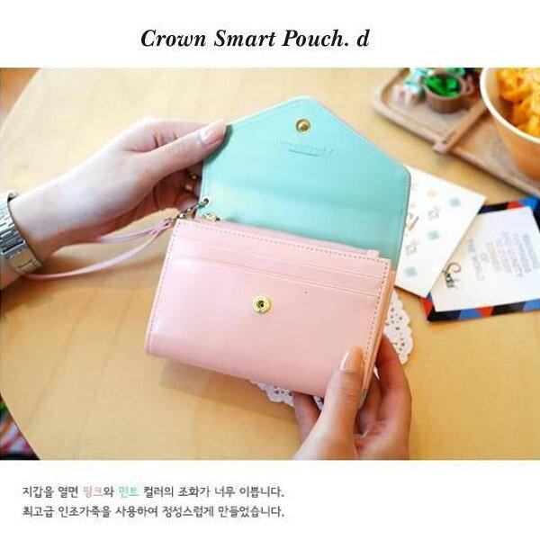 韓版皇冠 短版手機包 手機皮夾   (145X95mm) 不挑色