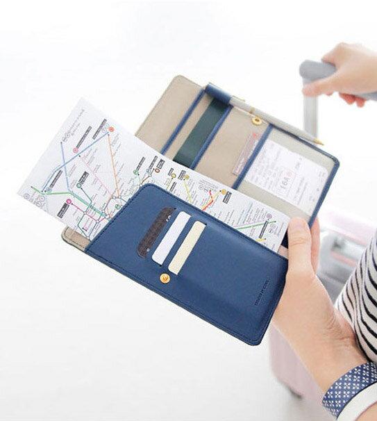 護照包 防消磁皮面護照套 多 中長款護照夾  不挑色