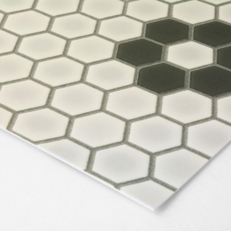 馬賽克圖案 磚紋地 地板卷材 石磚紋  客廳 日本地板材/HM-1116