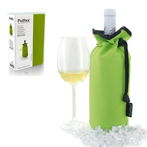 【西班牙Pulltex普德斯 】葡萄酒束口保冷袋 / 綠色