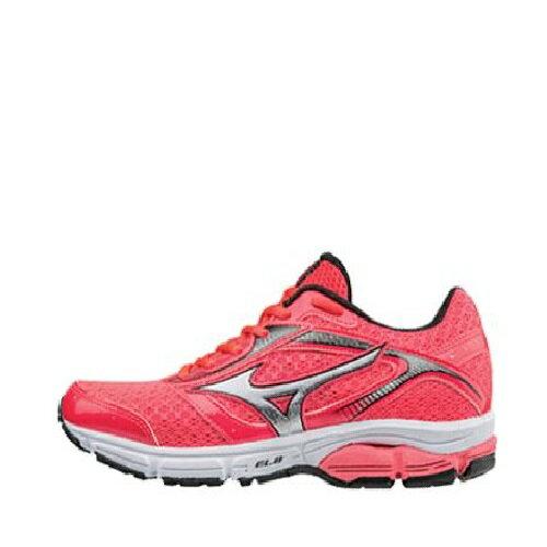 MIZUNO WAVE IMPETUS 4 女鞋 慢跑 緩衝型 耐磨 透氣 桃紅 銀【運動世界】J1GD161304