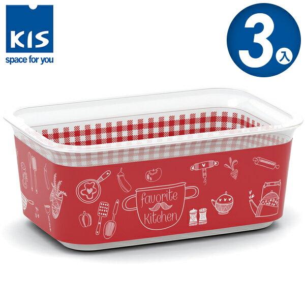 E&J【012008-02】義大利 KIS CHIC BOX 餐茶收納盒 1.5L 3入;收納箱/收納盒/整理箱/收納櫃
