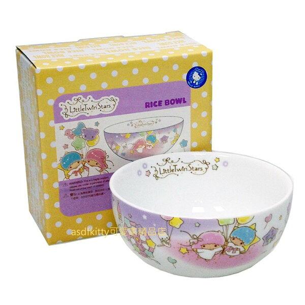 asdfkitty可愛家精品店:asdfkitty可愛家☆雙子星氣球版陶瓷碗湯碗飯碗點心碗-香港正版商品