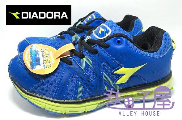 【巷子屋】義大利國寶鞋-DIADORA迪亞多納 男童超彈性四大機能抗壓大氣墊運動跑鞋 [9936] 藍 超值價$590