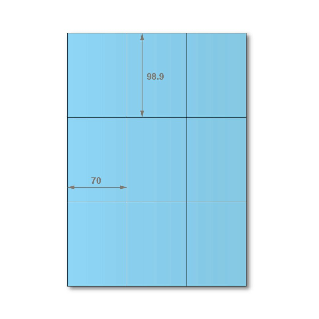 【萬用標籤貼】龍德高品質SGS檢驗合格三用電腦標籤貼紙(淺藍一箱裝)LD-896-B-B 可出貨用貼紙 影印 雷射 噴墨