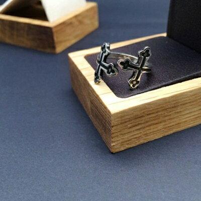 925純銀戒指銀飾-日韓潮流復古雙十字架生日情人節禮物女飾品73ic51【獨家進口】【米蘭精品】