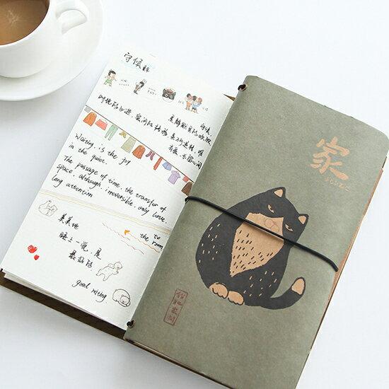 ♚MYCOLOR♚肥貓家潤手賬筆記本文具記事本學生辦公用品綁帶日記本複古【P74】